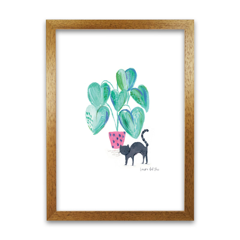 Laura Irwin Cat and Hpouse Plant A1 Print Only with White Mount