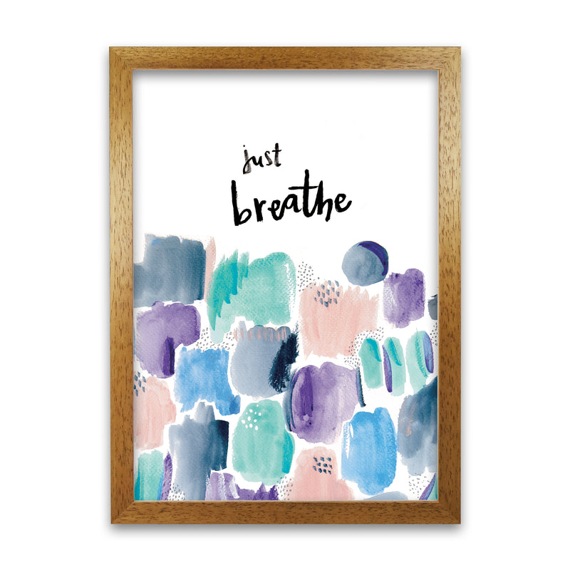 Laura Irwin Just Breathe A1 Print Only with White Mount
