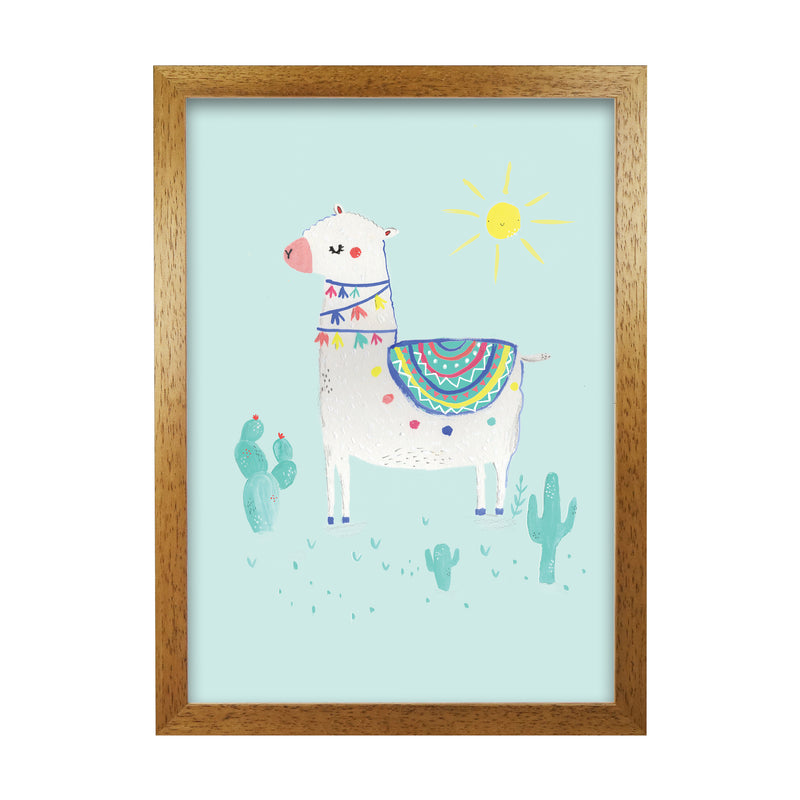 Laura Irwin Sunshime Llama A1 Print Only with White Mount