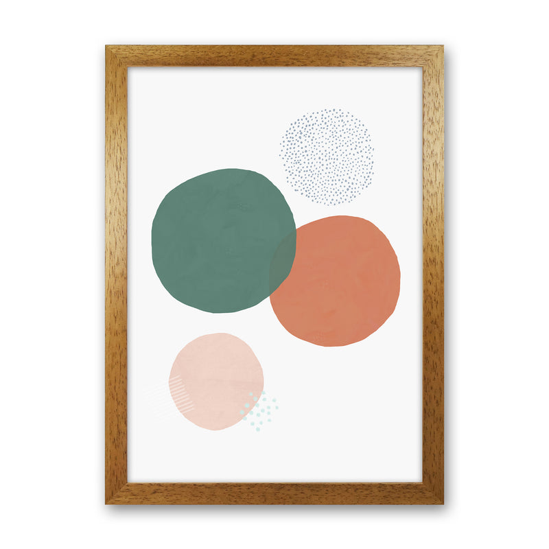 Abstract Soft Circles by Laura Irwin Oak Grain