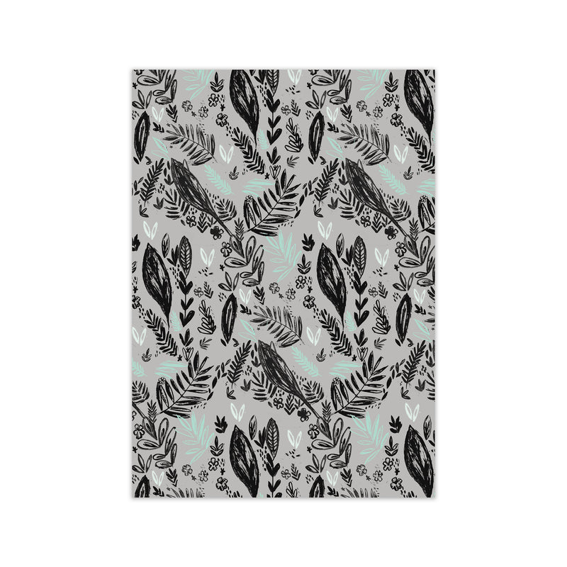 Laura Irwin Inky Jungle Pattern A2 Black with White Mount