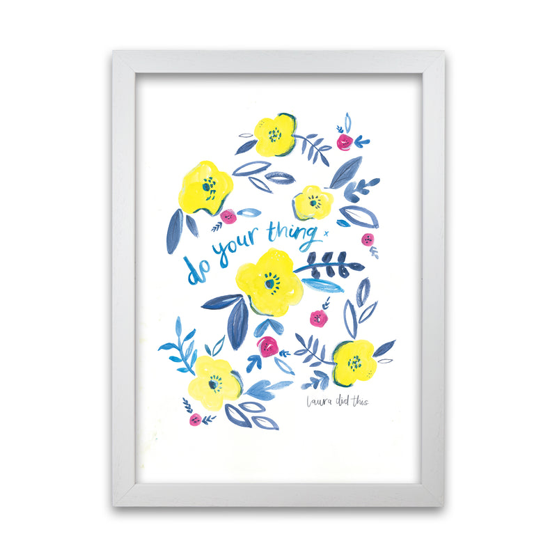 Laura Irwin Do Your Thing Floral A1 Oak with White Mount