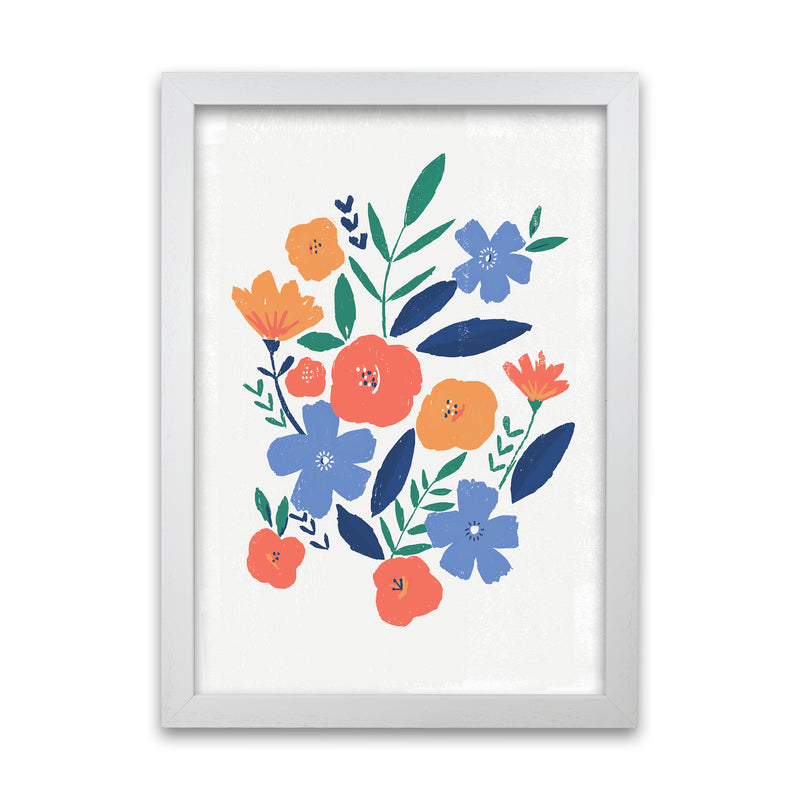 Laura Irwin Floral art print A1 Oak with White Mount