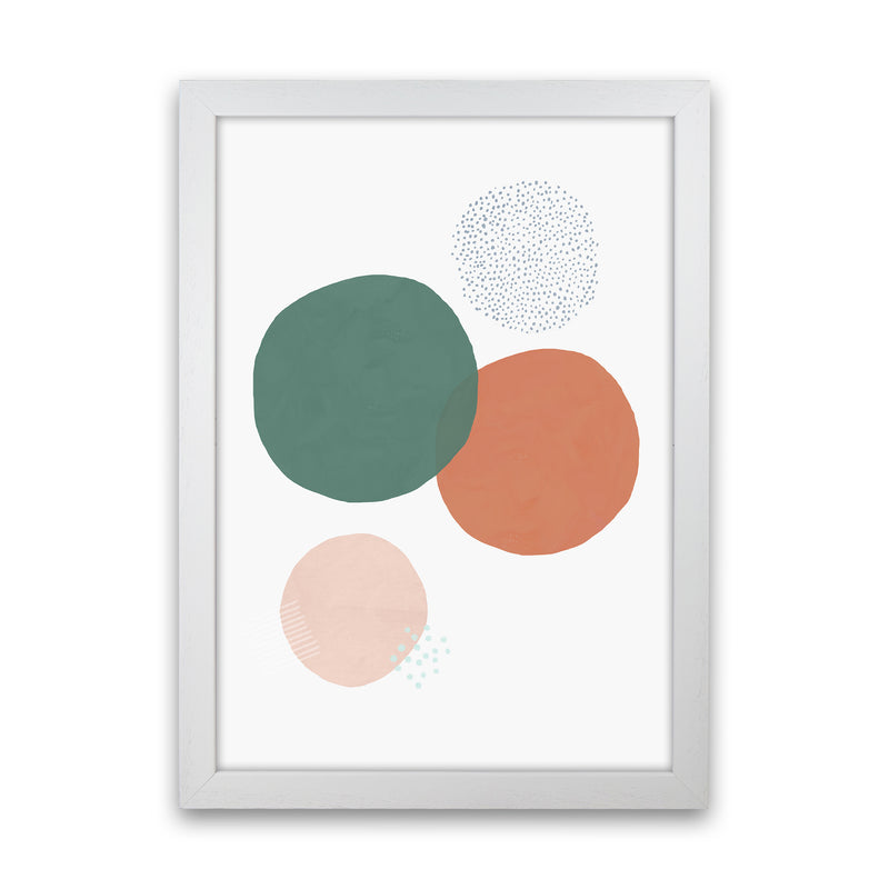 Abstract Soft Circles by Laura Irwin White Grain