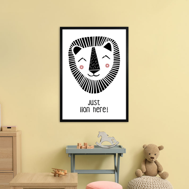 Lion Art Print by MiniOfMine A1 White Frame