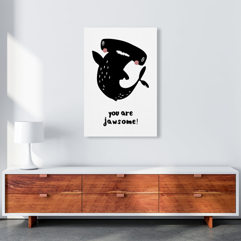 Shark Art Print by MiniOfMine A1 Canvas