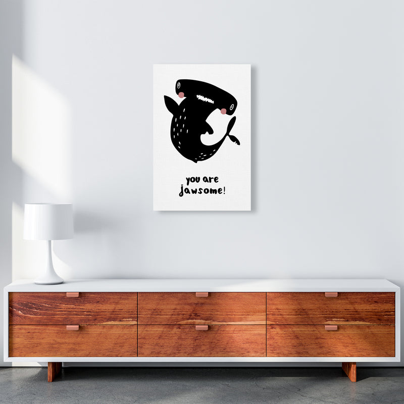 Shark Art Print by MiniOfMine A2 Canvas