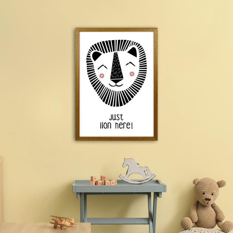 Lion Art Print by MiniOfMine A2 Print Only