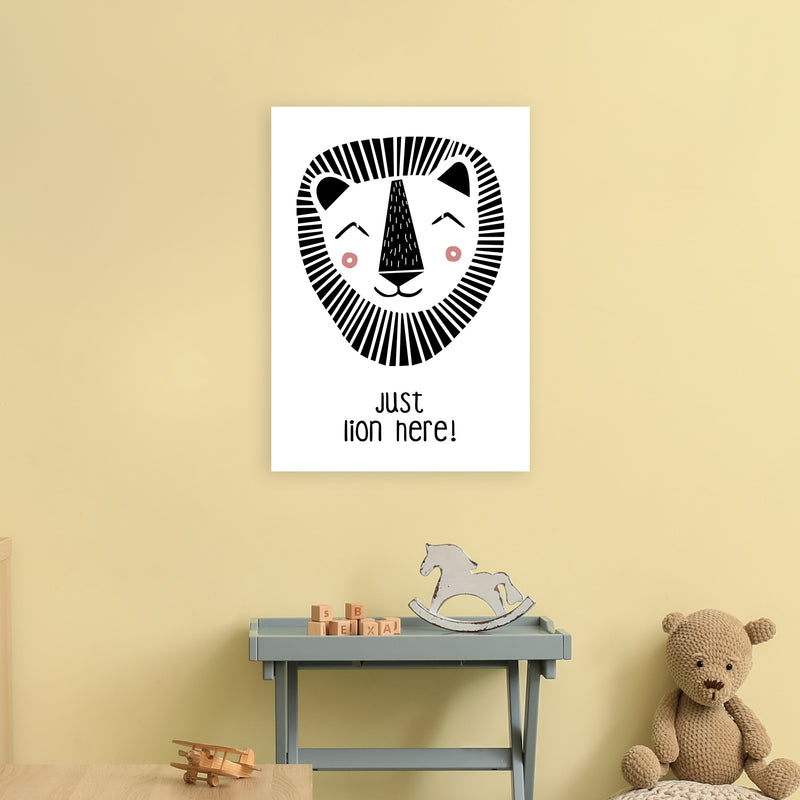 Lion Art Print by MiniOfMine A2 Black Frame