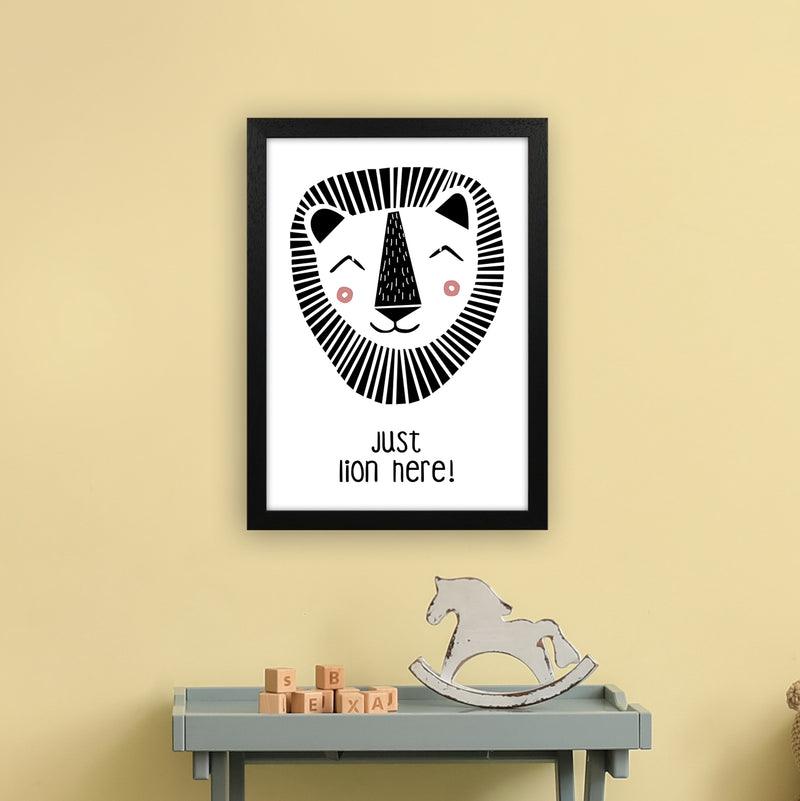 Lion Art Print by MiniOfMine A3 White Frame