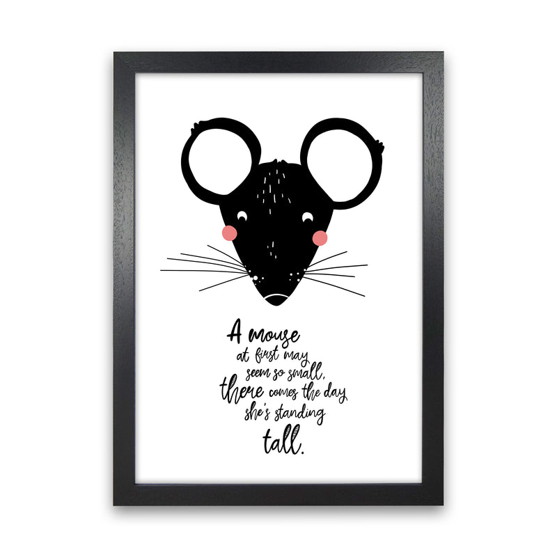 Mouse Art Print by MiniOfMine Black Grain