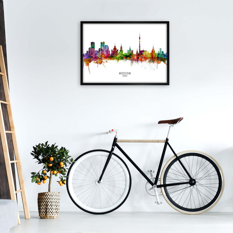 Moscow Russia Skyline Art Print by Michael Tompsett A1 White Frame