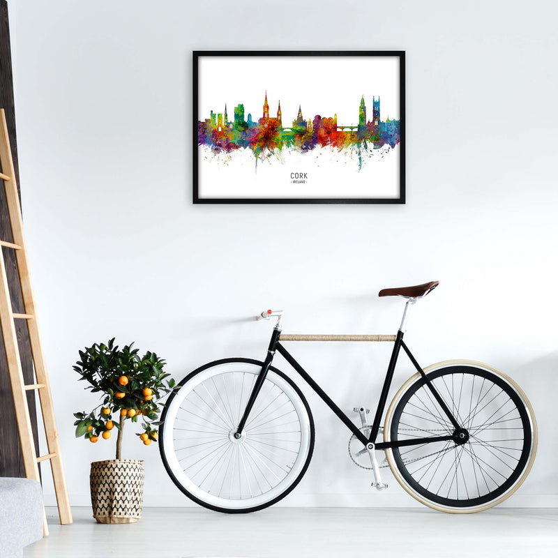 Cork Ireland Skyline Art Print by Michael Tompsett A1 White Frame