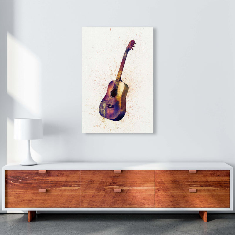 Acoustic Guitar Watercolour  by Michael Tompsett A1 Canvas