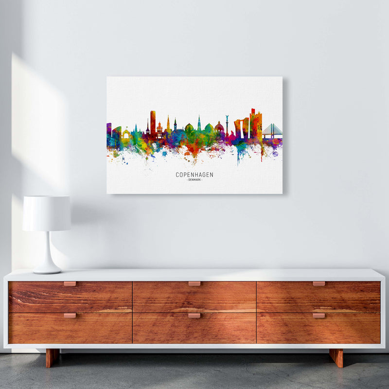 Copenhagen Denmark Skyline Art Print by Michael Tompsett A1 Canvas