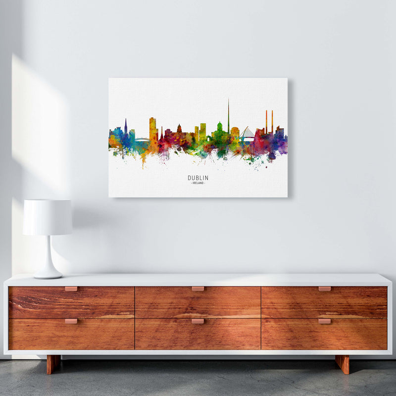 Dublin Ireland Skyline Art Print by Michael Tompsett A1 Canvas