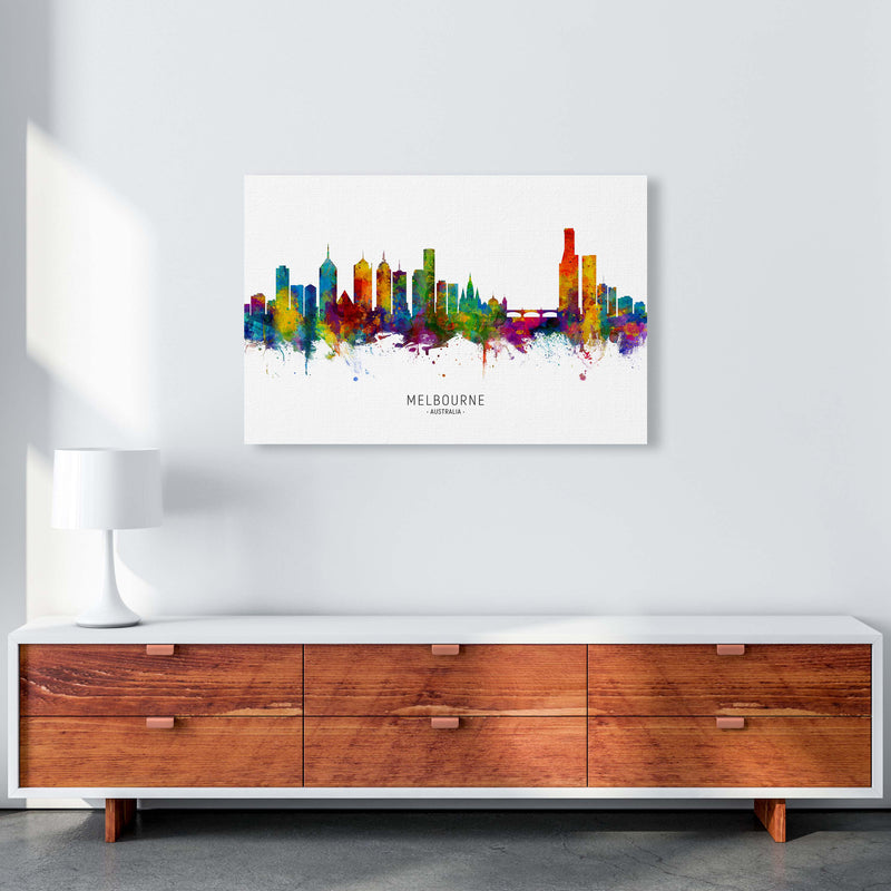 Melbourne Australia Skyline Art Print by Michael Tompsett A1 Canvas