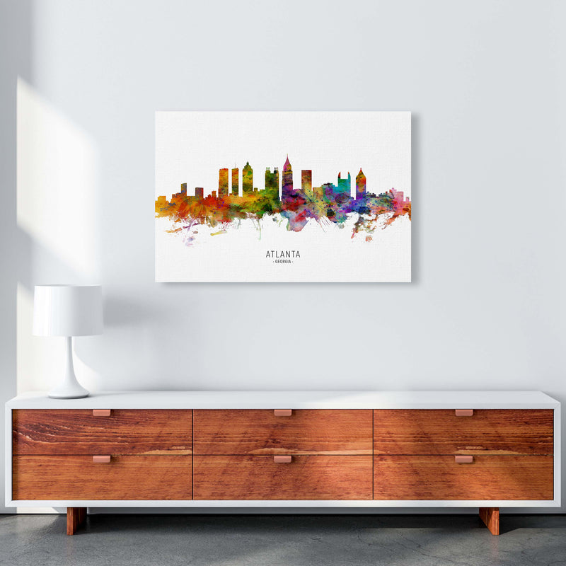 Atlanta Georgia Skyline Art Print by Michael Tompsett A1 Canvas