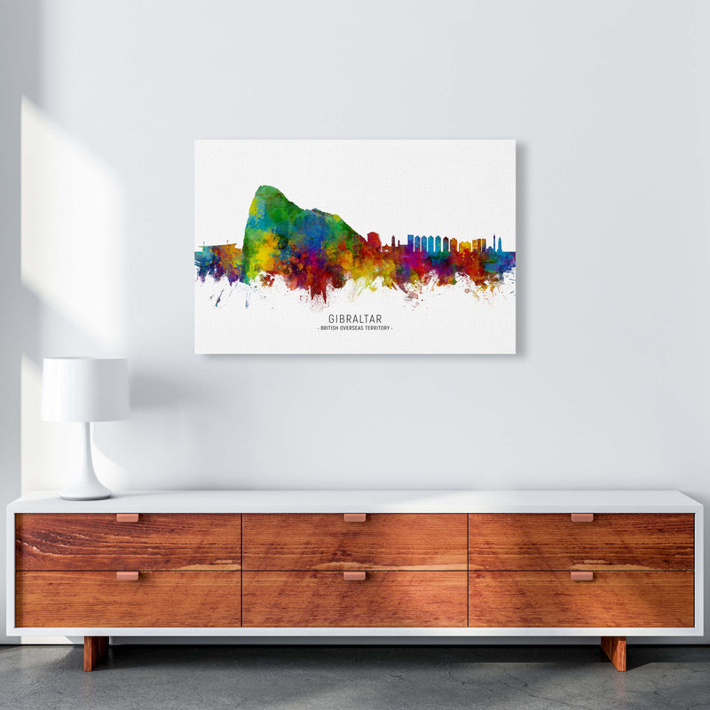 Gibraltar  Skyline Art Print by Michael Tompsett A1 Canvas