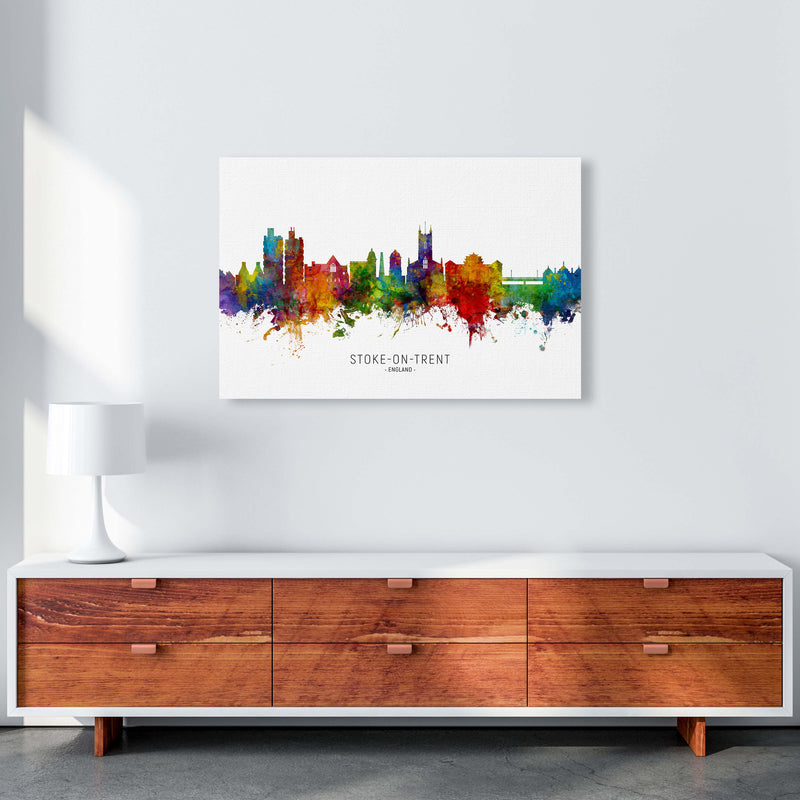 Stoke-On-Trent England Skyline Art Print by Michael Tompsett A1 Canvas