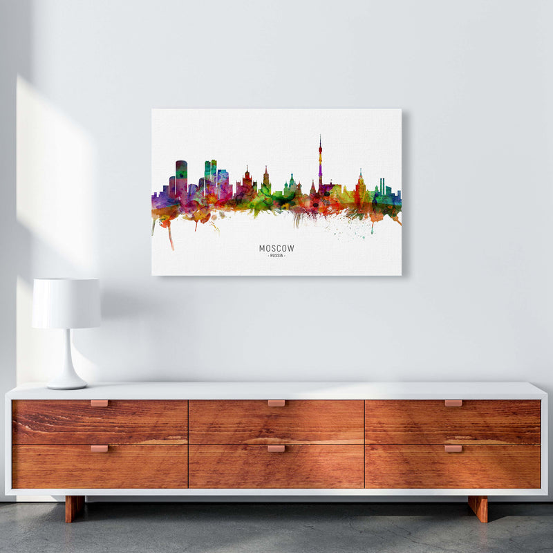 Moscow Russia Skyline Art Print by Michael Tompsett A1 Canvas