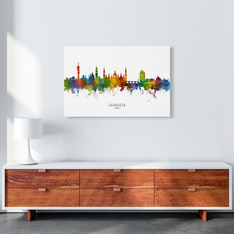 Zaragoza Spain Skyline Art Print by Michael Tompsett A1 Canvas