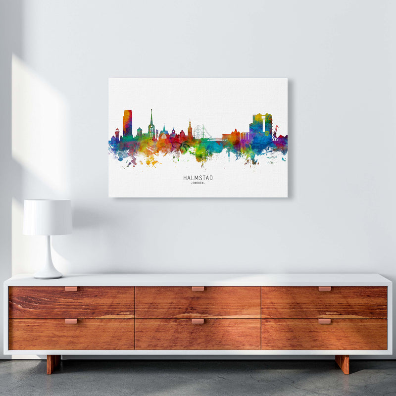 Halmstad Sweden Skyline Art Print by Michael Tompsett A1 Canvas