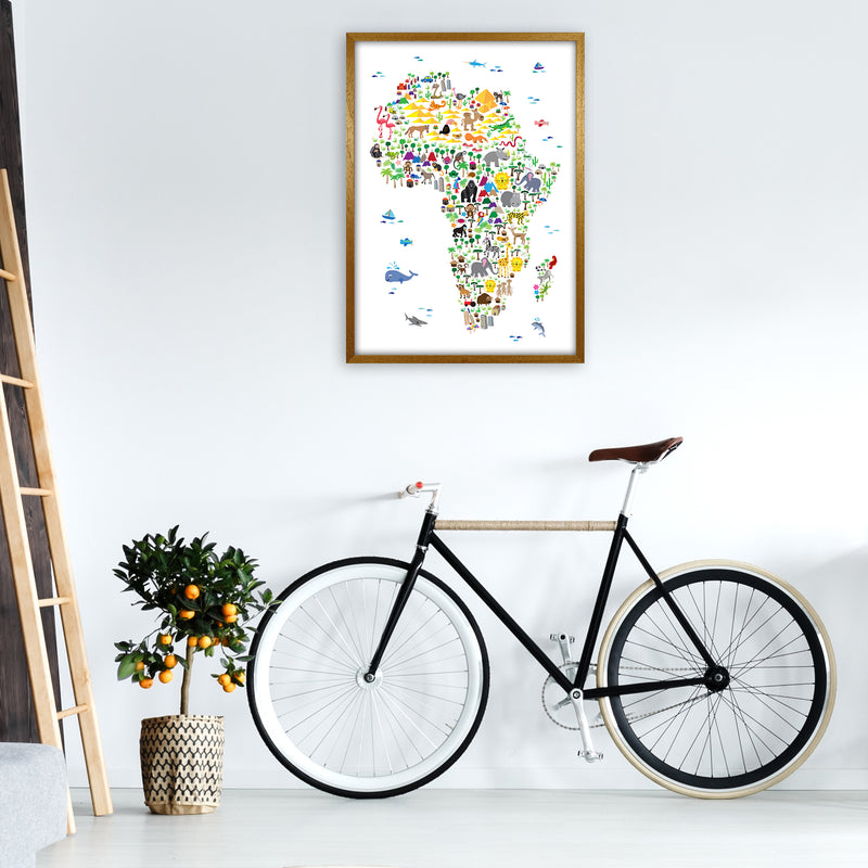 Animal Map of Africa Nursery Art Print by Michael Tompsett A1 Print Only