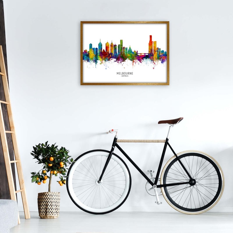 Melbourne Australia Skyline Art Print by Michael Tompsett A1 Print Only