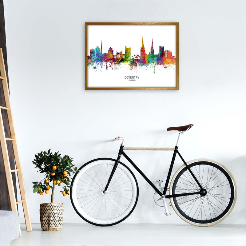 Coventry England Skyline Art Print by Michael Tompsett A1 Print Only
