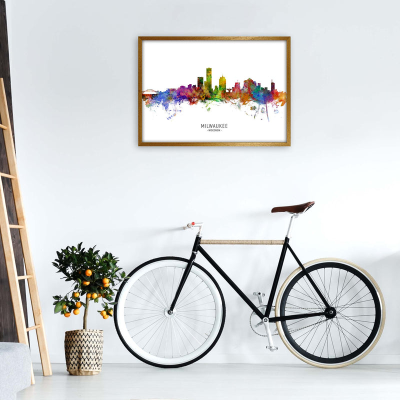 Milwaukee Wisconsin Skyline Art Print by Michael Tompsett A1 Print Only