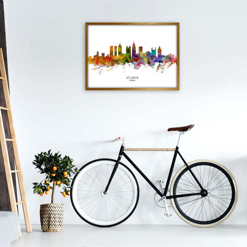 Atlanta Georgia Skyline Art Print by Michael Tompsett A1 Print Only