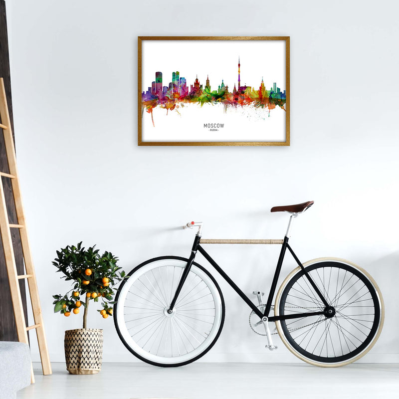 Moscow Russia Skyline Art Print by Michael Tompsett A1 Print Only