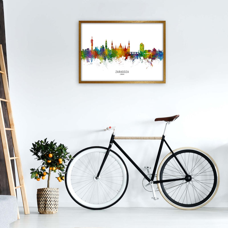 Zaragoza Spain Skyline Art Print by Michael Tompsett A1 Print Only