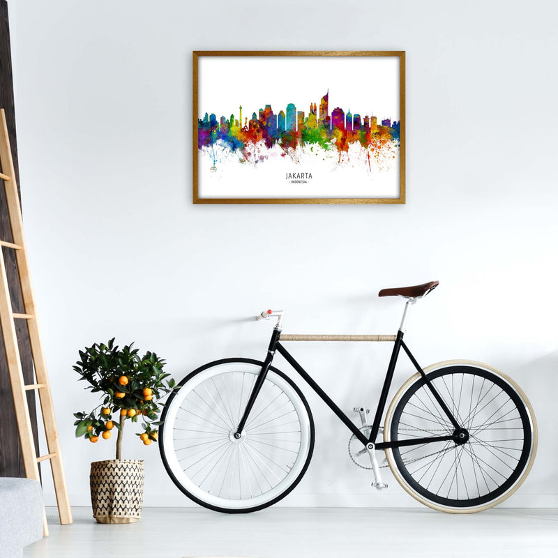 Jakarta Indonesia Skyline Art Print by Michael Tompsett A1 Print Only