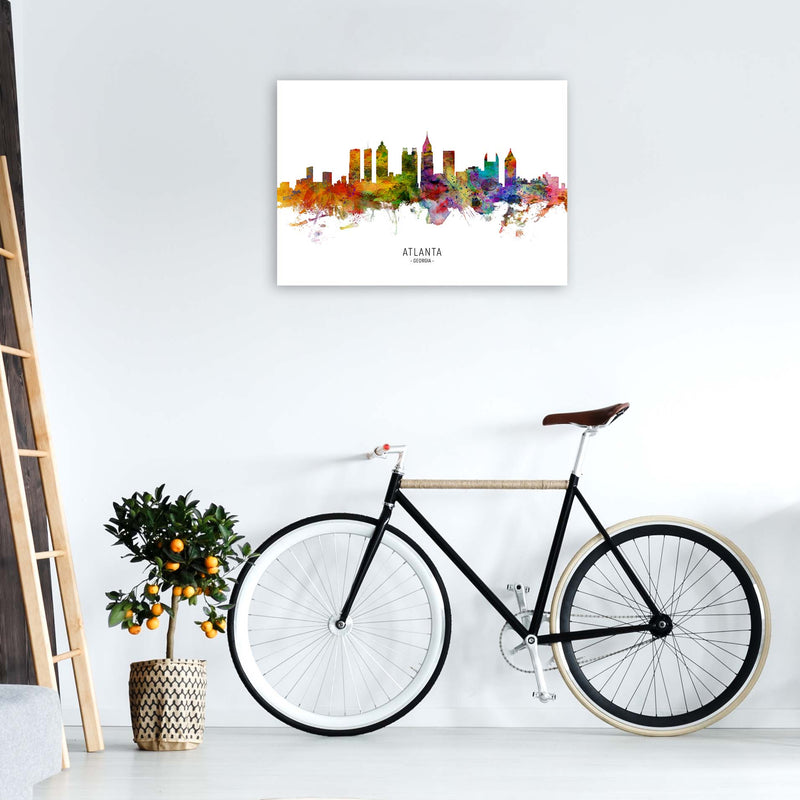 Atlanta Georgia Skyline Art Print by Michael Tompsett A1 Black Frame