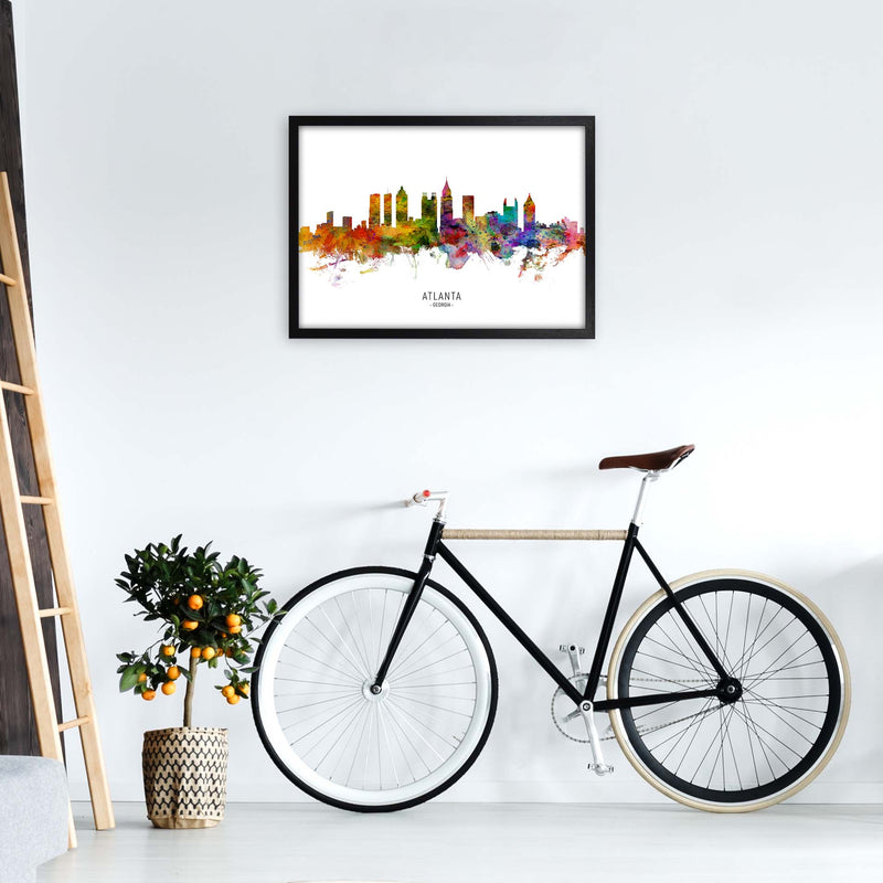Atlanta Georgia Skyline Art Print by Michael Tompsett A2 White Frame