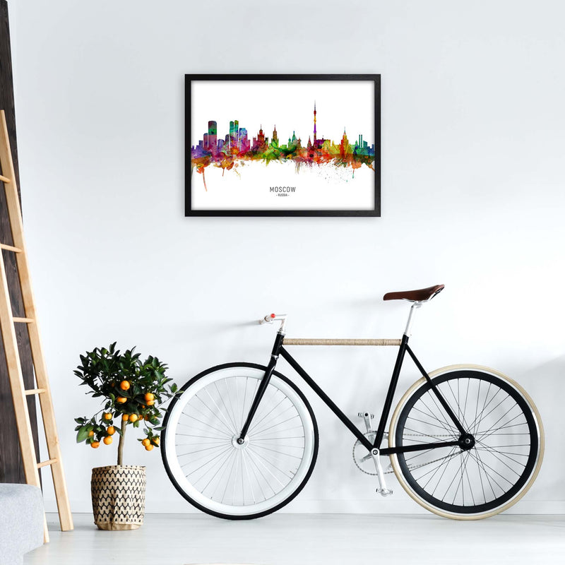 Moscow Russia Skyline Art Print by Michael Tompsett A2 White Frame
