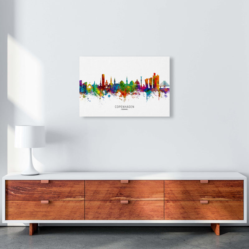 Copenhagen Denmark Skyline Art Print by Michael Tompsett A2 Canvas