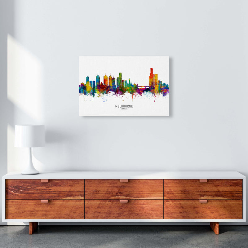 Melbourne Australia Skyline Art Print by Michael Tompsett A2 Canvas