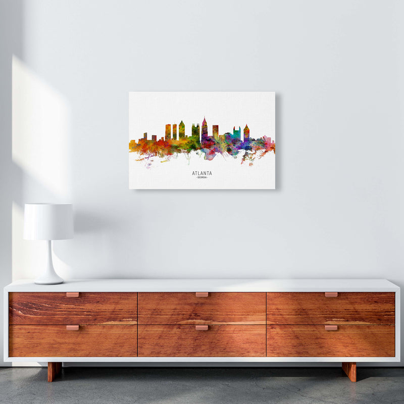 Atlanta Georgia Skyline Art Print by Michael Tompsett A2 Canvas