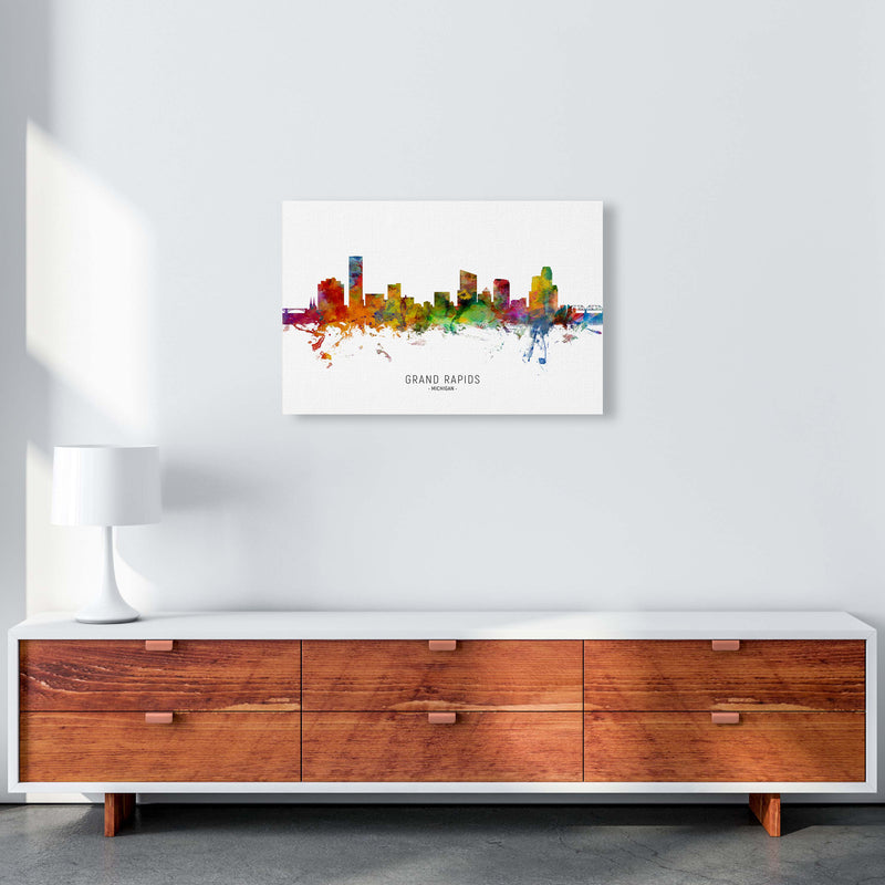 Grand Rapids Michigan Skyline Art Print by Michael Tompsett A2 Canvas