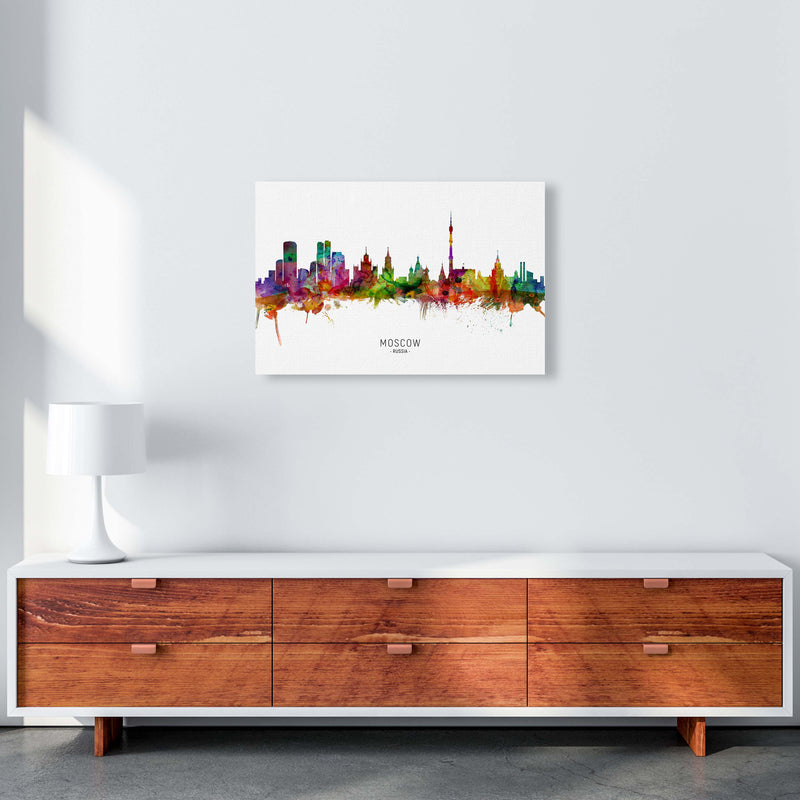 Moscow Russia Skyline Art Print by Michael Tompsett A2 Canvas