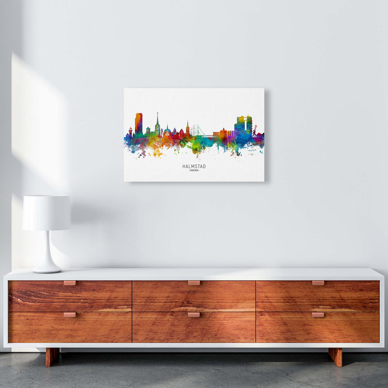 Halmstad Sweden Skyline Art Print by Michael Tompsett A2 Canvas
