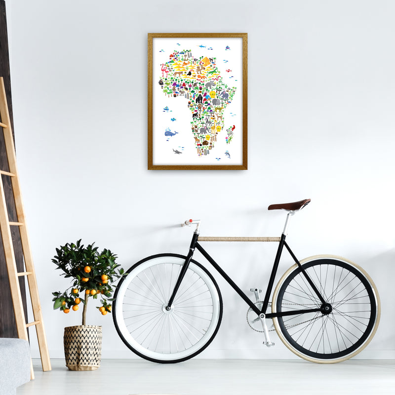 Animal Map of Africa Nursery Art Print by Michael Tompsett A2 Print Only
