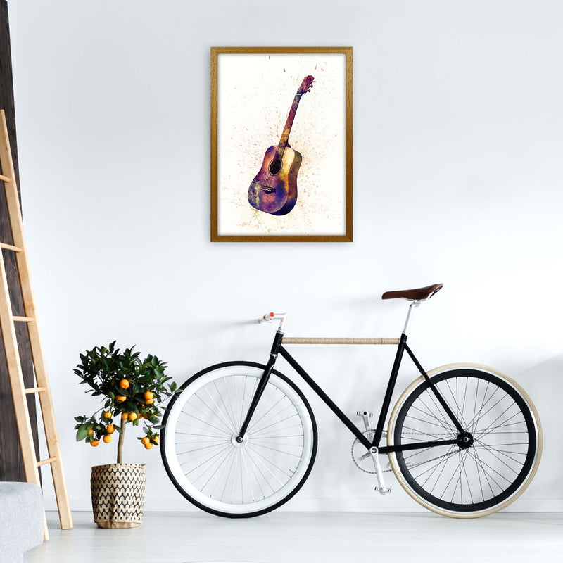 Acoustic Guitar Watercolour  by Michael Tompsett A2 Print Only