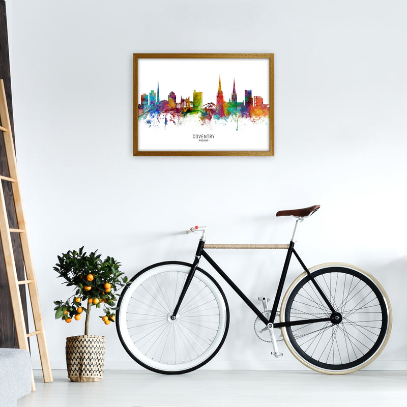 Coventry England Skyline Art Print by Michael Tompsett A2 Print Only