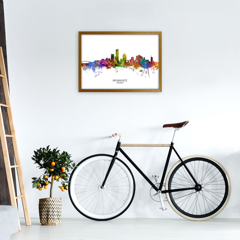 Milwaukee Wisconsin Skyline Art Print by Michael Tompsett A2 Print Only
