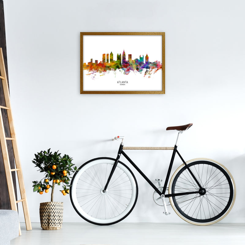 Atlanta Georgia Skyline Art Print by Michael Tompsett A2 Print Only