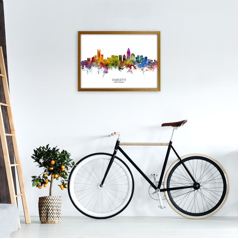 Charlotte North Carolina Skyline Print by Michael Tompsett A2 Print Only